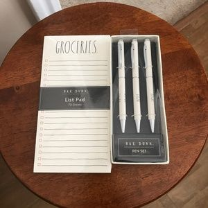 Rae Dunn Grocery and Pen Set